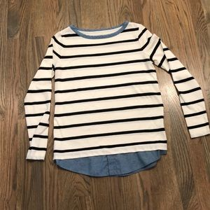Loft striped top with chambray bottom